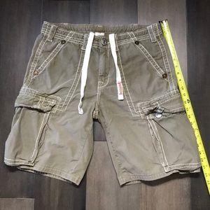 True Religion Cargo Army Green Shorts - Size 33